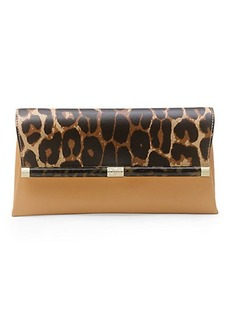 440 Envelope Printed Leather Clutch