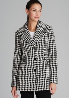 Calvin Klein Coat - Houndstooth Basketweave