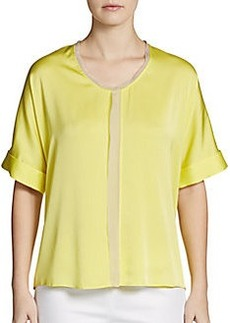 Elie Tahari Charity Silk Blouse