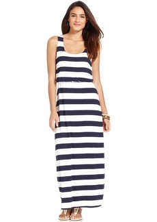 Style&co. Petite Striped Blouson Maxi Dress