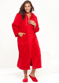 Charter Club Plus Size Supersoft Long Zip Up Hoodie Robe
