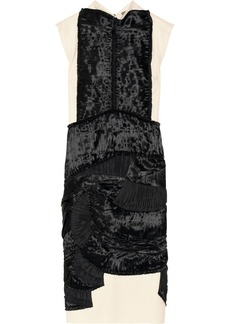 Bottega Veneta Satin-appliquéd wool-blend dress