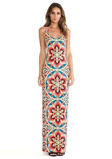 Mara Hoffman Modal Racerbeck Maxi Dress in Red