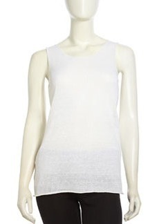 Lafayette 148 New York Voile Raglan Tank Top, White