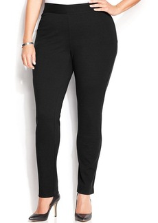 INC International Concepts Plus Size Pull-On Skinny Ponte Pants