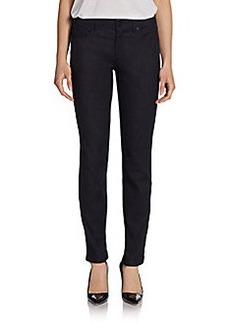 Elie Tahari Selena Leopard Straight-Leg Jeans