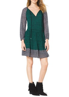 MICHAEL Michael Kors Two-Tone Ruffled Dress