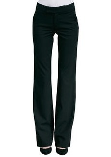 Straight-Leg Pants, Black   Straight-Leg Pants, Black