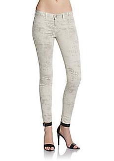 J Brand Mid Rise Printed Skinny Leggings