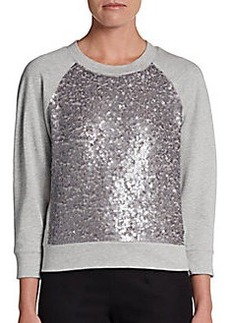 DKNY Sequined French Terry Pullover