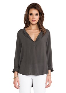 Velvet by Graham & Spencer Hedlee Rayon Voille Top in Charcoal