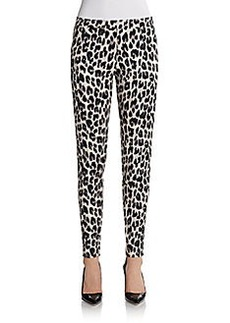 French Connection Simba Leopard-Print Skinny Pants