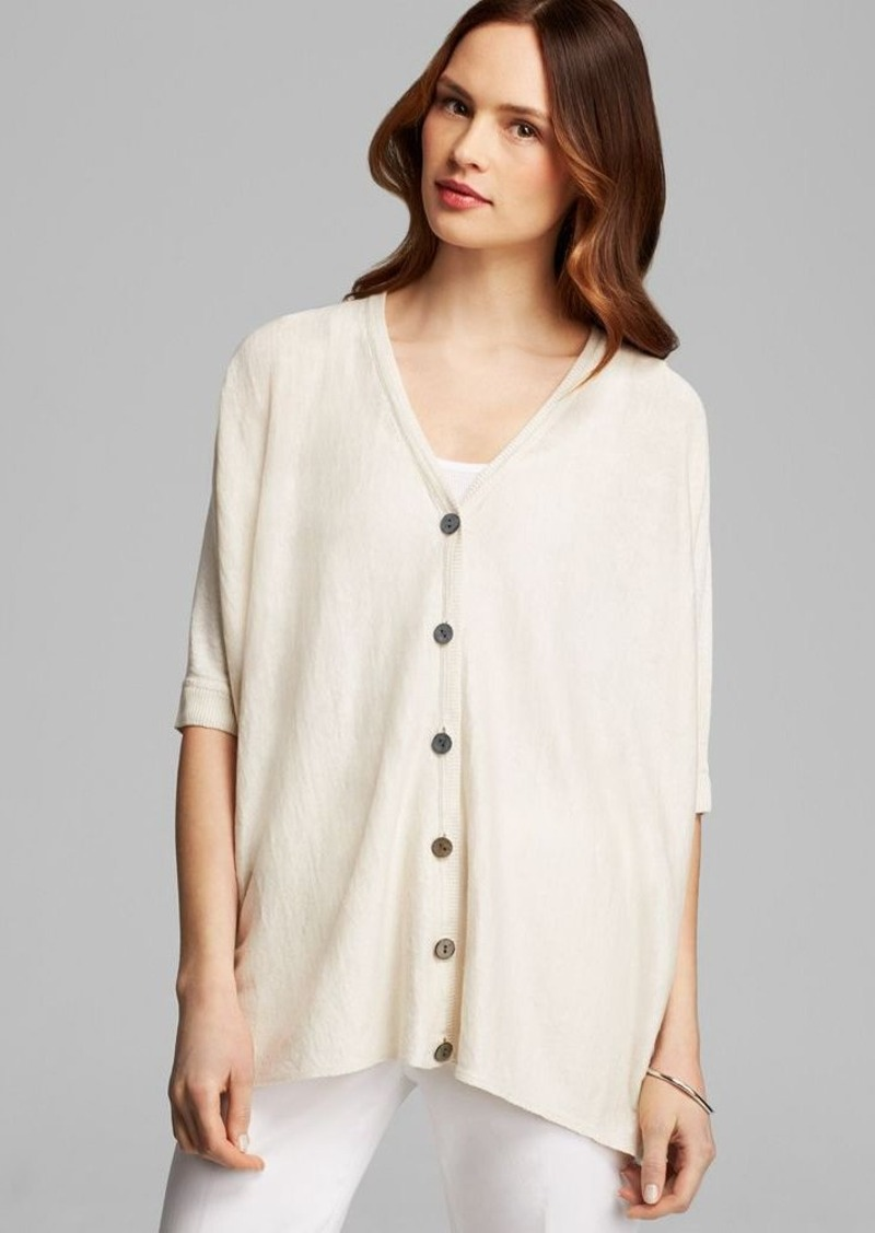 Lafayette 148 New York Oversized V Neck Cardigan