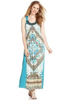Style&co. Printed Empire-Waist Maxi Dress
