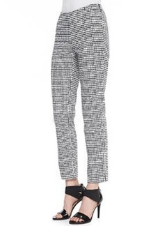 Lafayette 148 New York Stanton Painterly Grid Ankle Pants