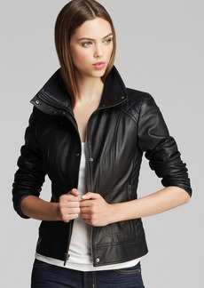Cole Haan Leather Jacket - Diamond Quilted