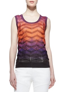 M Missoni Bias-Plaid Tank Top