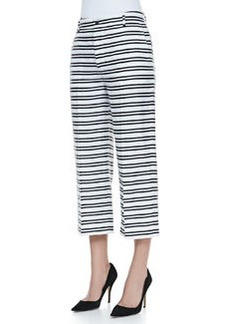 J Brand Ready to Wear Caldwell Striped Cropped Trousers