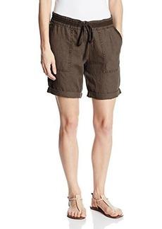 Michael Stars Women's Linen Roll-Cuff Bermuda Short