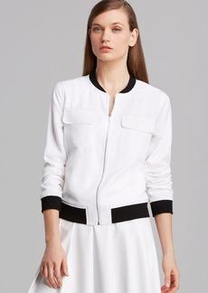 Calvin Klein Rib Knit Bomber Jacket