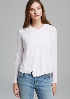 Eileen Fisher Angle Front Shaped Jacket