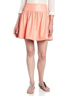 French Connection Women's Pleather Skirt