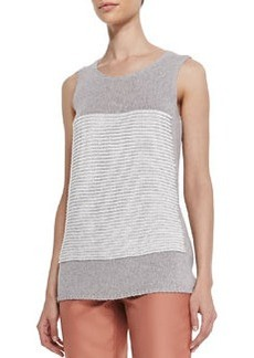 Lafayette 148 New York Crochet-Knit Scoop-Neck Tank