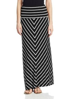 Calvin Klein Women's Mitered Striped Maxi Skirt