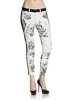 Hudson Faded Floral Skinny Jeans