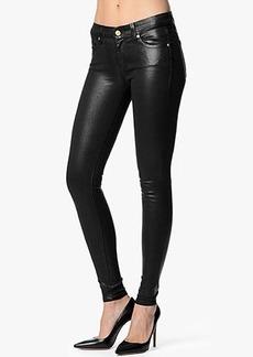 The Skinny in High Shine Leather-Like Black
