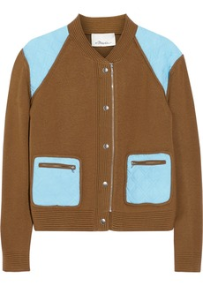 3.1 Phillip Lim Color-block wool and cashmere-blend bomber jacket