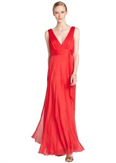 A.B.S. by Allen Schwartz peony chiffon sleeveless empire waist gown