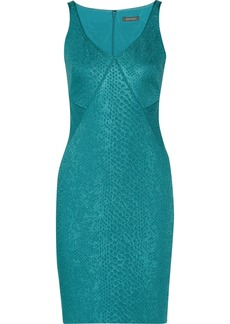 Zac Posen Snake-jacquard dress