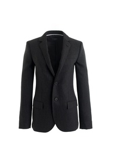 Women's Ludlow jacket in pinstripe Italian wool