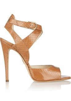 Brian Atwood Alisee elaphe peep-toe sandals