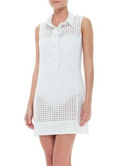 Ooh La La Eyelet Short Sleeveless Coverup Dress   Ooh La La Eyelet Short Sleeveless Coverup Dress