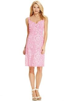 Charter Club Petite Sleeveless Paisley-Print Empire-Waist Dress