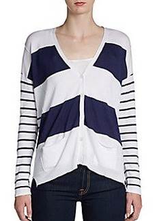 Design History Mixed Striped Cardigan