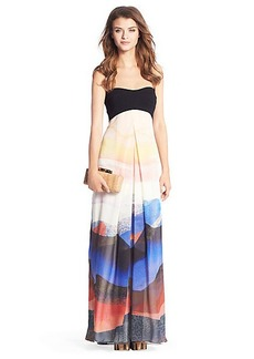 Adrianna Printed Chiffon Maxi Dress