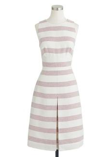 Stripe basket-weave dress