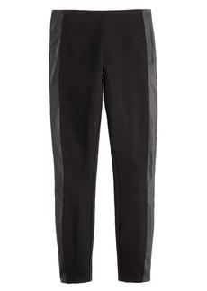 Pixie pant in leather tuxedo stripe