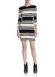 French Connection Jag Fitted Stripe Dress
