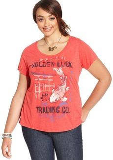 Lucky Brand Plus Size Koi-Print Tee