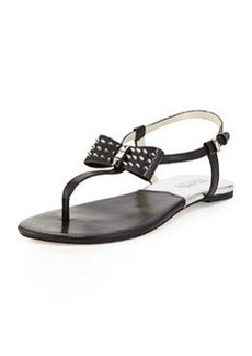 MICHAEL Michael Kors Devin Stud-Bow Thong Sandal