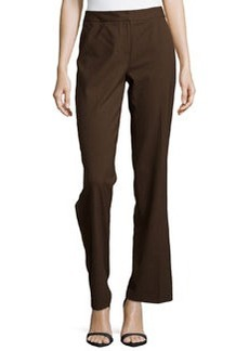 Lafayette 148 New York Classic Contemporary Stretch-Knit Pants, Espresso