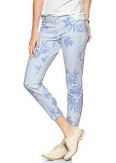 1969 floral stripe always skinny skimmer jeans