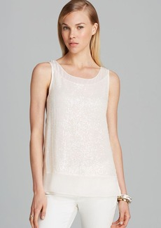 FRENCH CONNECTION Tank - Rivera Mist Sequin