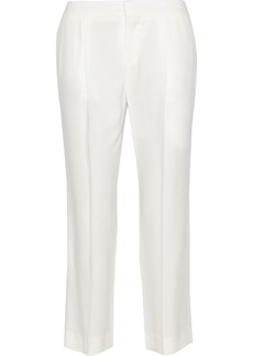 Chloé Cropped crepe straight-leg pants