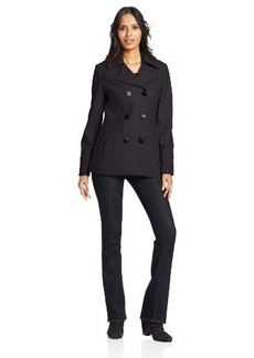 Kenneth Cole New York Women's Side-Stitch Pea Coat