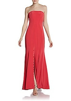 ABS Strapless Slit-Front Gown